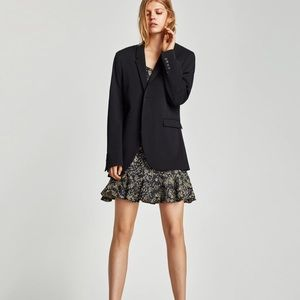 ZARA DOUBLE RUFFLE HEM MINI DRESS
